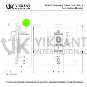 BEARING COVER 2138812 Replacement
